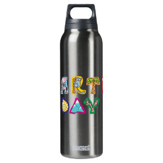 Cool Colorful Earth Day Custom Drinkware Insulated Water Bottle