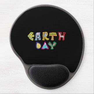 Cool Colorful Earth Day Custom Gel Mousepad Black