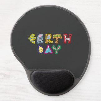 Cool Colorful Earth Day Custom Gel Mousepad Gray
