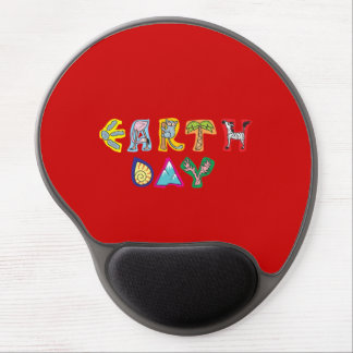 Cool Colorful Earth Day Custom Gel Mousepad Red