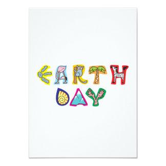 Cool Colorful Earth Day Custom Invitation