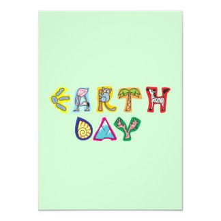Cool Colorful Earth Day Custom Invitation Green