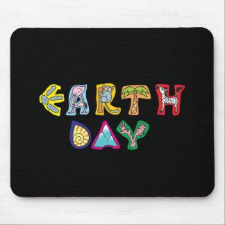 Cool Colorful Earth Day Custom Mousepad Black