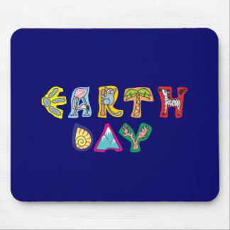 Cool Colorful Earth Day Custom Mousepad Blue