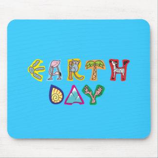 Cool Colorful Earth Day Custom Mousepad Bluegreen