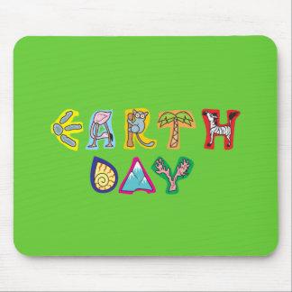 Cool Colorful Earth Day Custom Mousepad Green