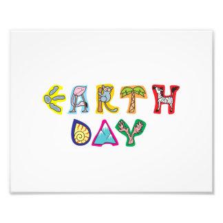 Cool Colorful Earth Day Custom Photo Print