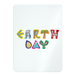 Cool Colorful Earth Day Invitation