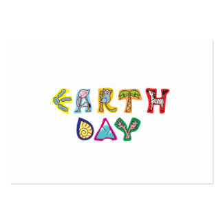 Cool Colorful Earth Day Large Business Card