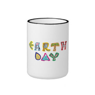 Cool Colorful Earth Day Ringer Mug