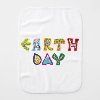 Cool Colorful Earth Day Burp Cloths