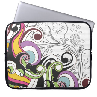 Cool Colorful Fashion Vector Swirls Laptop Computer Sleeves