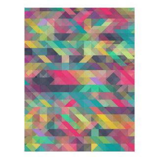 Cool colorful geometric triangles pattern poster