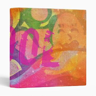 Cool colorful girly graffiti design binder