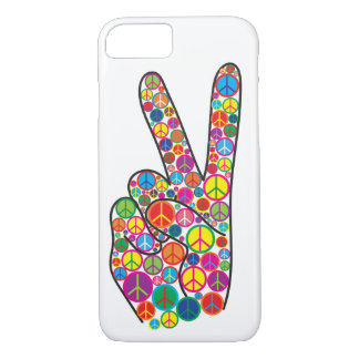 Cool Colorful Groovy Peace Signs iPhone 8/7 Case