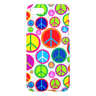 Cool Colorful Groovy Peace Symbols iPhone 7 Case