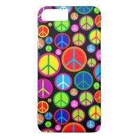 Cool Colorful Groovy Peace Symbols iPhone 8 Plus/7 Plus Case