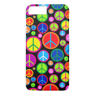 Cool Colorful Groovy Peace Symbols iPhone 8 Plus/7 Plus Case