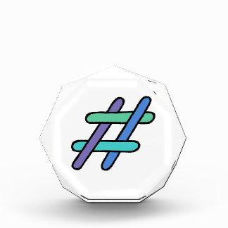 Cool Colorful # Hashtag Blue Green Social Media Award