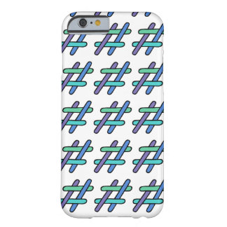 Cool Colorful # Hashtag Blue Green Social Media Barely There iPhone 6 Case