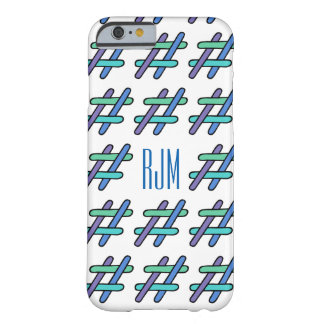 Cool Colorful # Hashtag Personalized Social Media Barely There iPhone 6 Case