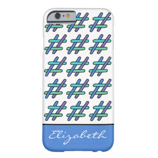 Cool Colorful # Hashtag Social Media Personalized Barely There iPhone 6 Case