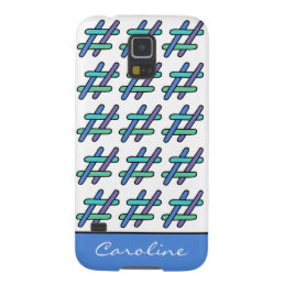 Cool Colorful # Hashtag Social Media Personalized Case For Galaxy S5