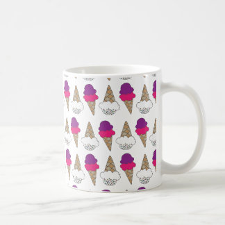 Cool & Colorful Ice Cream Cones Coffee Mug