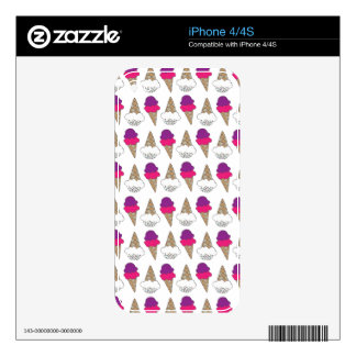 Cool & Colorful Ice Cream Cones iPhone 4S Decal