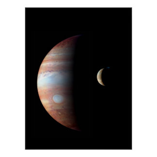 Cool Colorful Jupiter and Io Poster