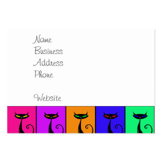 Cool Colorful Kitty Cat Pop Art Business Cards