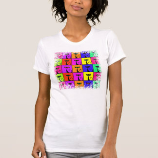Cool Colorful Kitty Cat Pop Art Squares T-Shirt