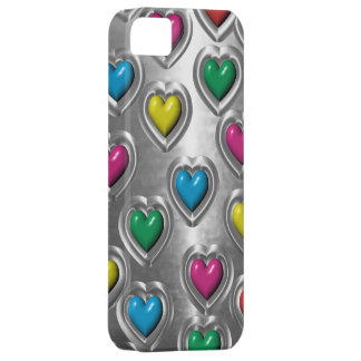 Cool Colorful Metal Hearts  iPhone 5 Case