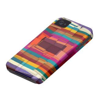 Cool colorful modern cubism Case-Mate iPhone 4 case