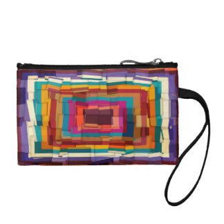 Cool colorful modern cubism coin wallet