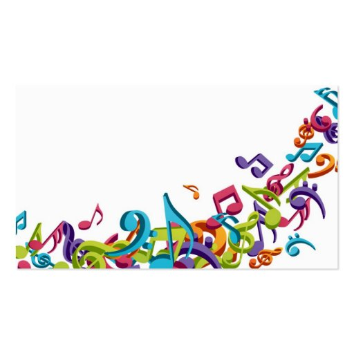 Cool Colorful music notes & sounds Double-Sided Standard ...