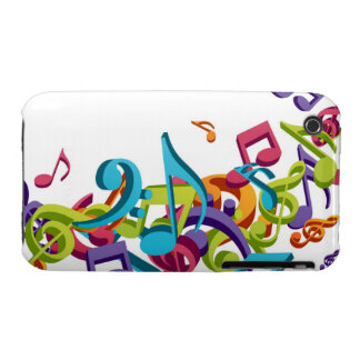 Cool Colorful  music notes & sounds iPhone 3 Case-Mate Case