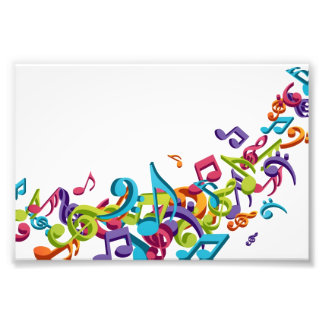 Cool Colorful  music notes & sounds music fashion Photo Print