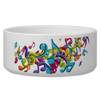 Cool Colorful  music notes & sounds Pet Bowl