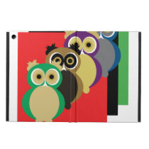 Cool Colorful Owls Case For iPad Air