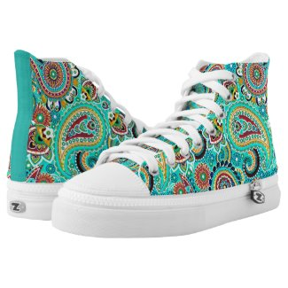 Cool Colorful Paisley Printed Shoes