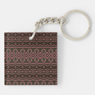 Cool colorful pattern Double-Sided square acrylic keychain