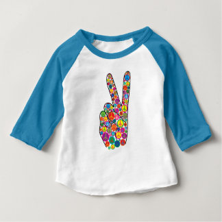 Cool Colorful Peace Signs Baby T-Shirt