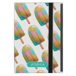 Cool Colorful Popsicle Pattern with Name iPad Mini Covers