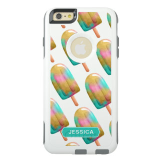 Cool Colorful Popsicle Pattern with Name OtterBox iPhone 6/6s Plus Case