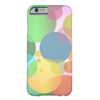 Cool Colorful Random Circles Pattern Barely There iPhone 6 Case
