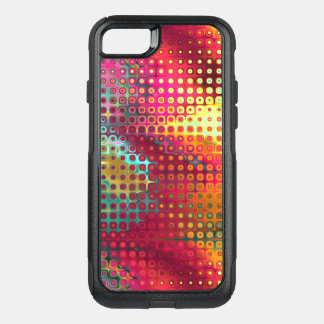 Cool Colorful red, Rainbow of Liquid Dots OtterBox Commuter iPhone 8/7 Case