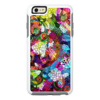 Cool Colorful Retro Floral Collage Pattern OtterBox iPhone 6/6s Plus Case