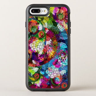 Cool Colorful Retro Floral Collage Pattern OtterBox Symmetry iPhone 7 Plus Case