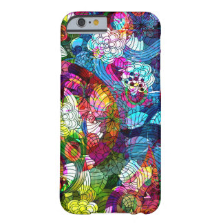 Cool Colorful Retro Flowers Collage Barely There iPhone 6 Case